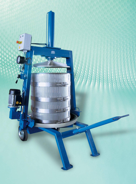 Diraspatrici e presse zucchelli enologica macchine e for Pressa idraulica 100 ton usata